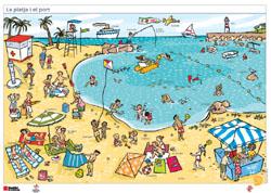 La platja i el port