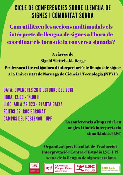 Nou cicle de conferències sobre llengua de signes a la Universitat Pompeu Fabra - 26 oct.' Barcelona 2018.10.26.LSC.jpg_190334705