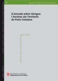 II Jornada sobre Llengua i Societat als Territoris de Parla Catalana