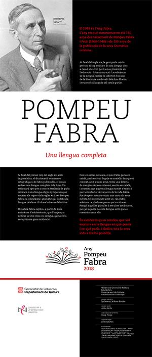 Pompeu Fabra. Una llengua completa. Lona 1